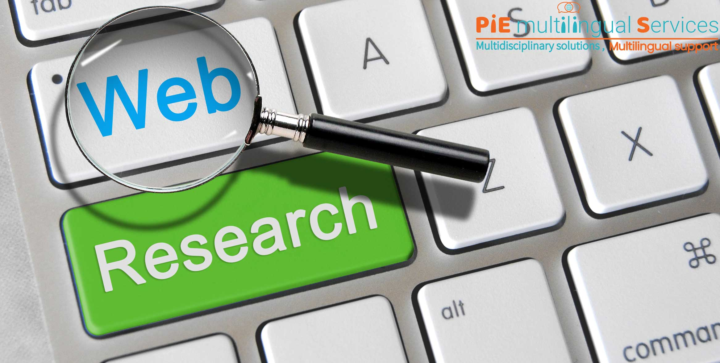 Web research service company