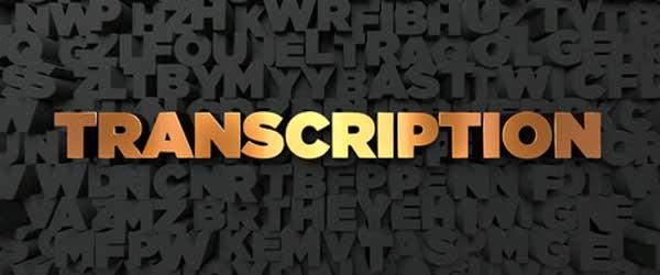 Transcription outsourcing services