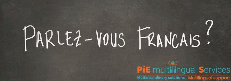 French audio transcription